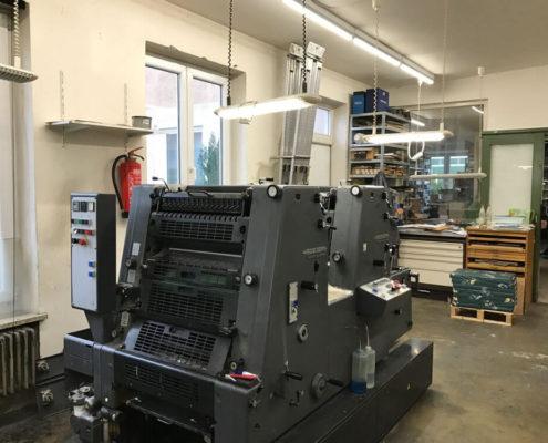 Drucksaal, Offsetdruckerei Erdei, hier GTO 52-2