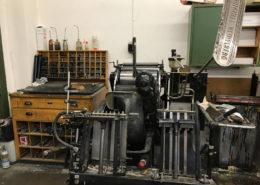 Offsetdruck - unser alter OHT Tiegel (Buchdruckmaschine) Baujahr ca. 1960