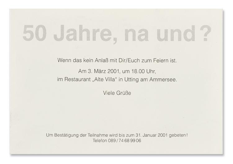 Einladung zu einer Geburtstagsfeier, Postkartenformt