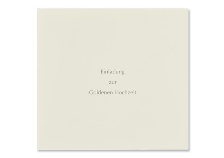 """Einladung zur """"Goldenen Hochzeit"""", grauer Offsetdruck, Seite 1"""