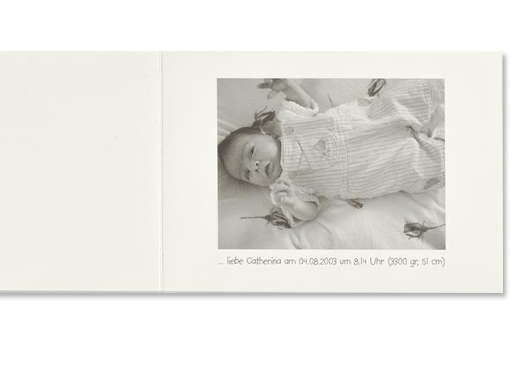 Geburtsanzeige, Seite 3 mit Foto