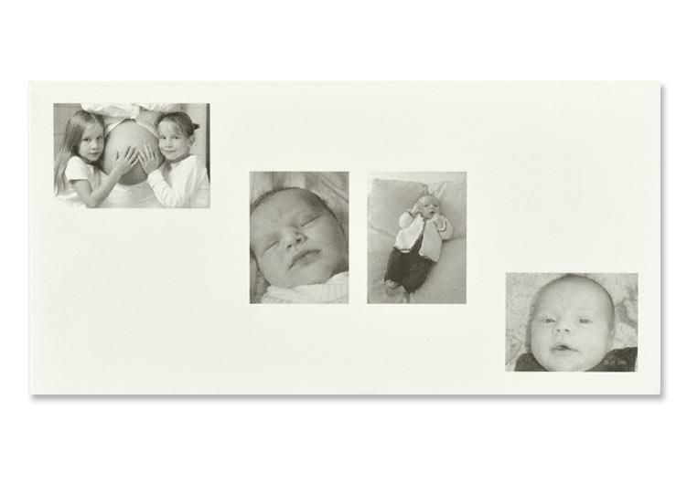 Geburtsanzeige mit Fotocollage