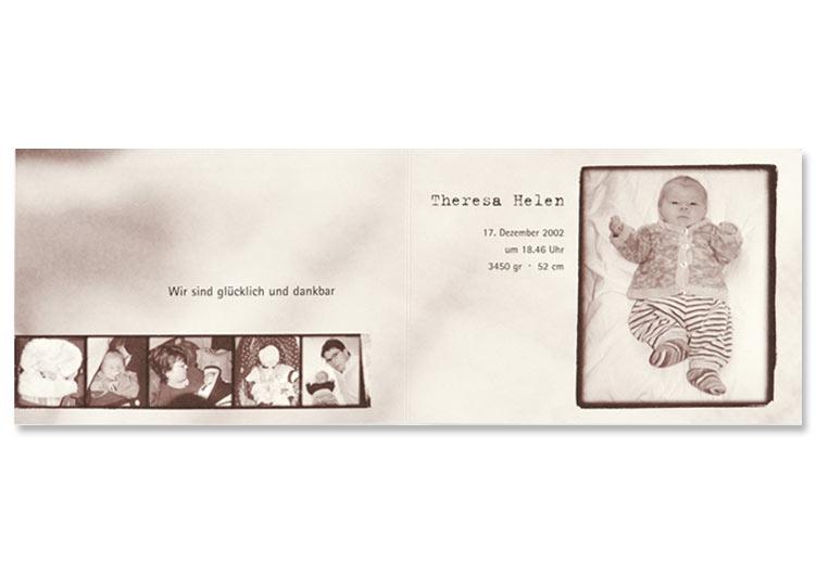 Geburtsanzeige im Retrodesign