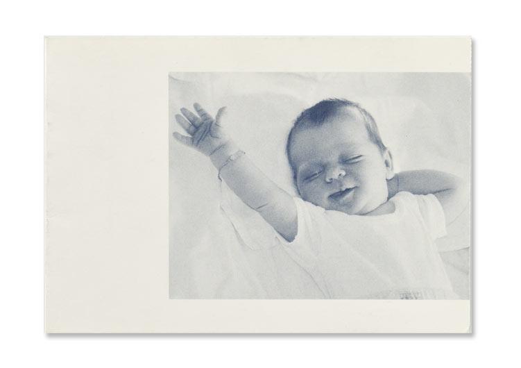 Geburtsanzeige, Offsetdruck blau
