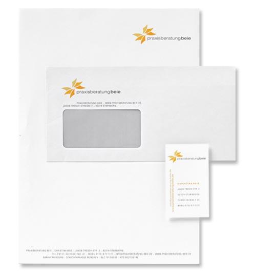 Geschäftsdrucksachen, Hüllen, Briefpapier und Visitenkarten