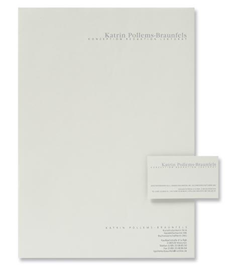 Geschäftsausstattung Briefpapier und Visitenkarten