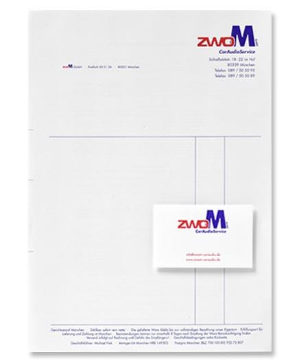 Geschäftsdrucksachen, Rechnungen und Visitenkarten, Papier weiß