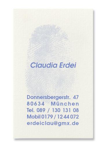 Visitenkarten Druckerei Erdei München