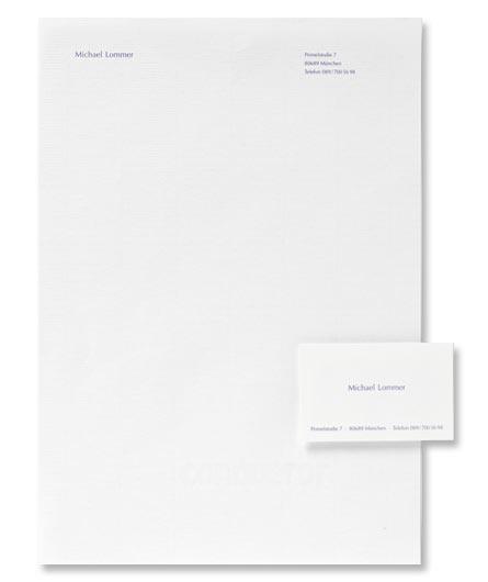 Privates Briefpapier und passende Visitenkarten